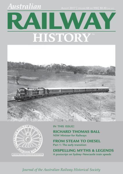 Australian Railway History — August 2017