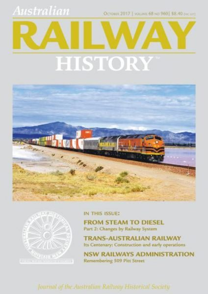 Australian Railway History — October 2017