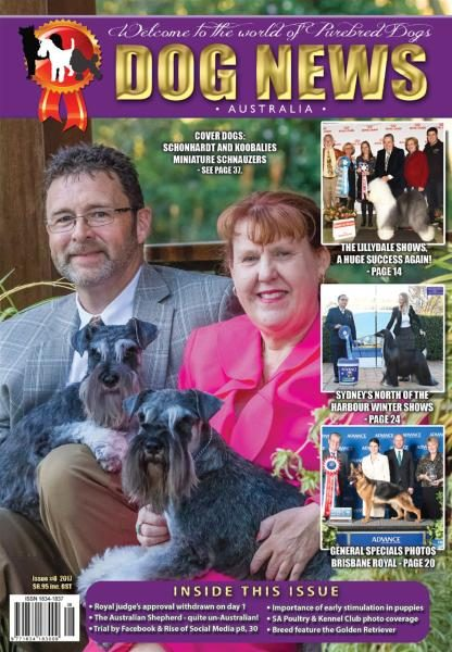 Dog News Australia — August 2017