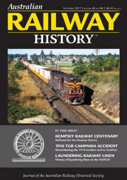 Australian Railway History — November 2017
