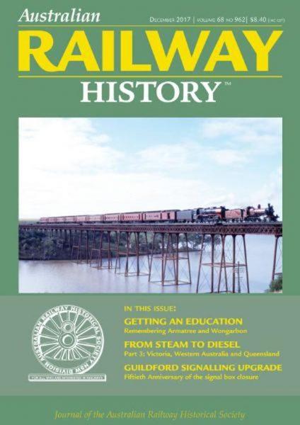 Australian Railway History — December 2017