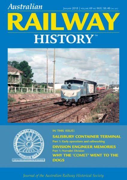 Australian Railway History — January 2018