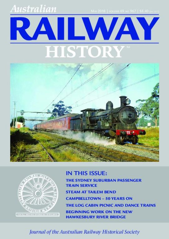 Australian Railway History – May 2018