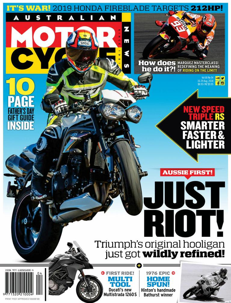 Australian Motorcycle News – August 16, 2018