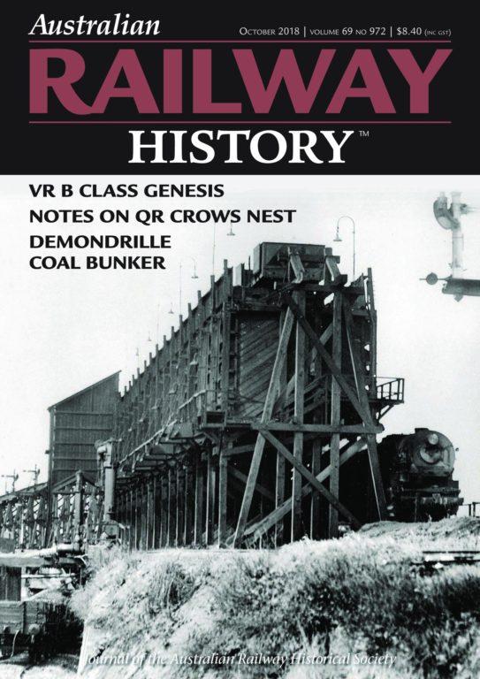 Australian Railway History – October 2018